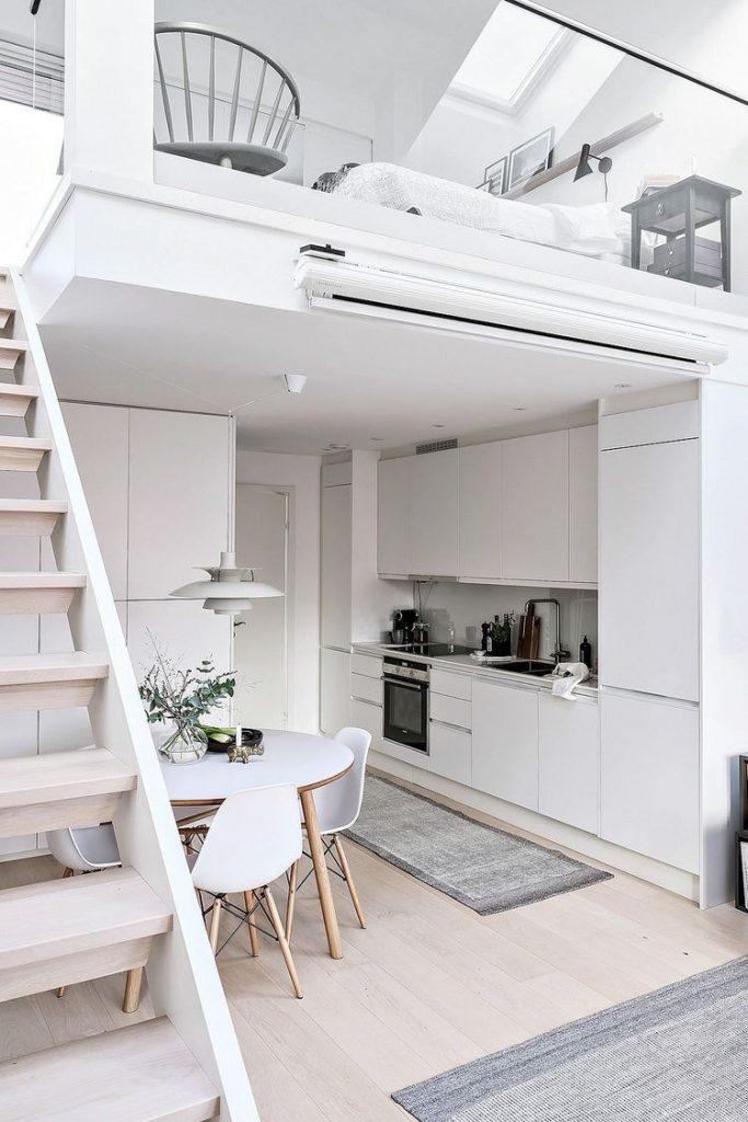 Reformar pisos pequeños. Imagen de un altillo extraída de Pinterest myhouseidea.com