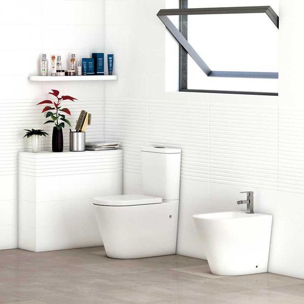 Reformas por menos de 1,000 €. Foto  de Brico Depot de un baño con inodoro Ginos.