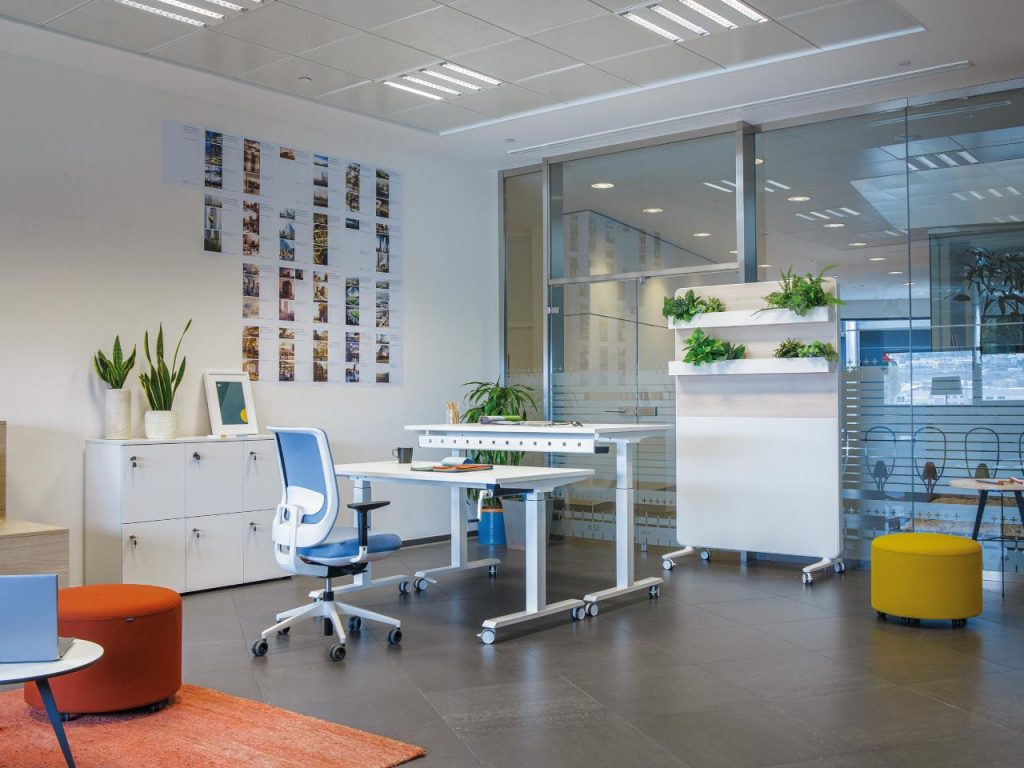Idea de decoración para agencia inmobiliaria